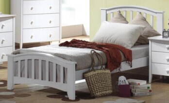 Acme White Arched Twin Bed