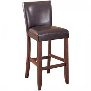 Coaster 29-Inch Dark Brown Faux Leather Barstools with Contoured Backs (set of 2)