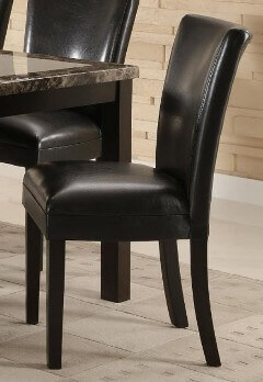Coaster Black Faux Leather Side Chairs (set of 2)