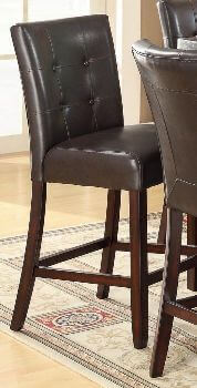 Coaster 24 Inch Dark Brown Faux Leather Barstools (set of 2)