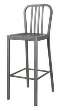Coaster 30-Inch Silver Metal Barstools (set of 2)