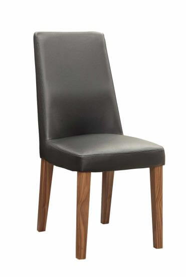 Coaster Dark Brown Dining Chair with Walnut Finish Legs
