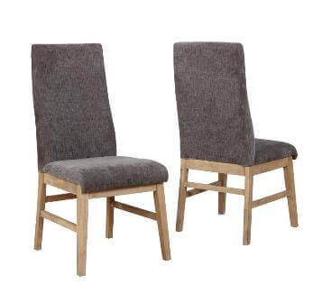 Coaster Plush Charcoal Dining Chairs with Acacia Legs (set of 4)