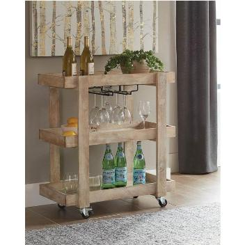 Coaster Rustic Sandblasted Serving Cart