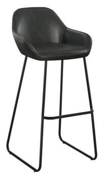 Coaster 30 Inch Vintage Charcoal Barstools with Metal Frames (set of 2)