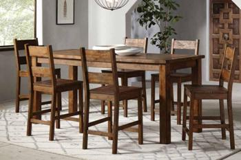 Coaster Coleman Counter-Height Hardwood Dining Set with 4 Barstools