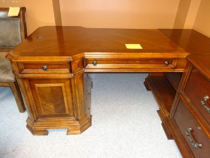 Home Meridian Cherry Desk with Carved Accents