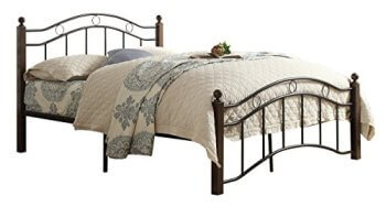 Homelegance Averny Black & Cherry Twin Bed