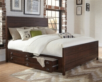 Coaster Donny Osmond Home Lanchester Vintage Cocoa Distressed King Storage Bed