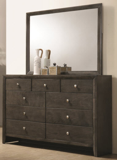 Coaster Serenity Grey Dresser with Mirror
