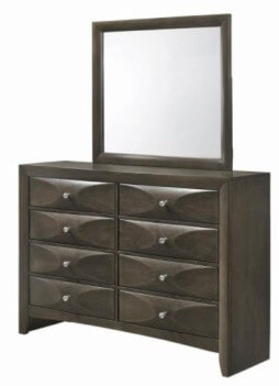 Coaster Salano Charcoal Dresser with Mirror