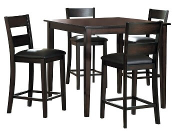 Homelegance Griffin Espresso Counter-Height Dining Set with 4 Barstools