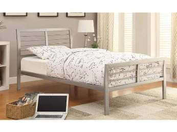 Coaster Silver Metal Full Platform Bed