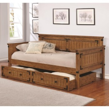 Coaster Rustic Hardwood Day Bed