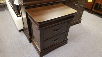 Homelegance Mont Belvieu 2-Drawer Nightstand with Bead Trim Accents & Hidden Drawer