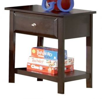 Coaster Cappuccino Finish Nightstand with 1 Drawer