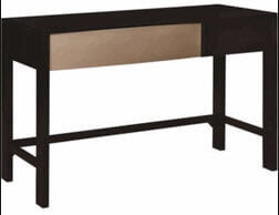 Coaster Black Desk with Silver Accent (blemish)