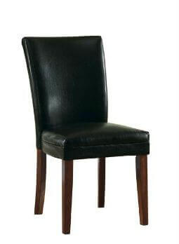 Coaster Black Faux Leather Dining Chairs (set of 2)