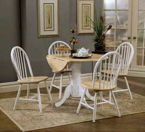 Coaster White & Natural Finish Side Chairs (set of 2)