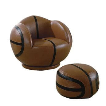 Coaster Youth Basketball Swivel Chair & Ottoman