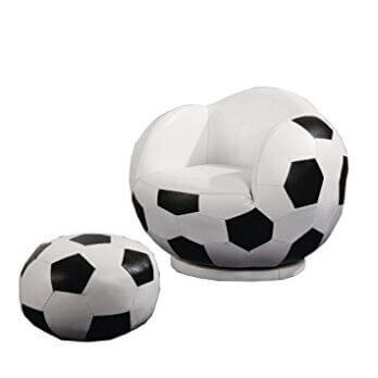 Coaster Youth Soccer Ball Swivel Chair & Ottoman