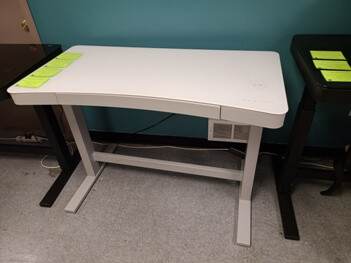 Twin Star White 47-Inch Contoured Power Adjustable Sit/Stand Desk