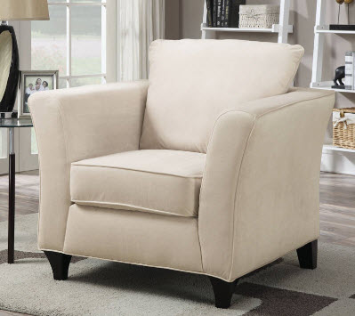 Coaster Park Place Ivory Velvet Chair