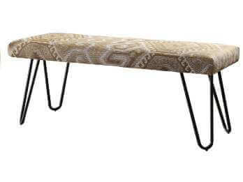 Coaster Desert Sand Bench with Hairpin Legs