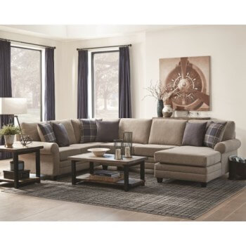 Coaster Scott Living Summerland 3-Piece Sectional with Reversible Chaise