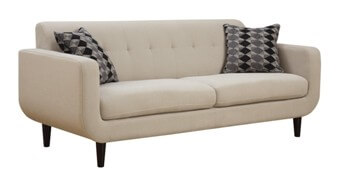 Coaster Ivory Sofa with Tufted Accents