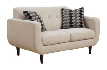 Coaster Ivory Loveseat with Tufted Accents