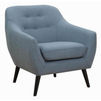 Coaster Blue Chair with Tufted Accents