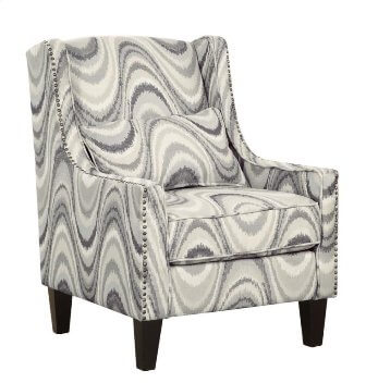 Coaster Grey Swirl Wingback Accent Chair