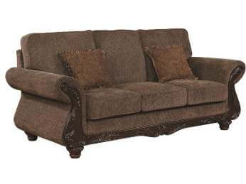 Coaster Phaedra Sofa with Carved Wood Accents