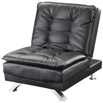 Coaster Black Pillow Top Chair Bed