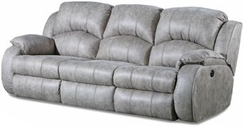 Southern Motion Acai 705 Power Reclining Sofa with Power Adjustable Headrests in River Run Nickel