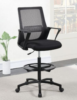Coaster Contemporary Black Drafting Chair