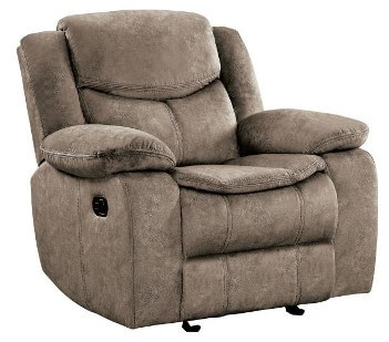 Homelegance Bastrop Brown Fabric Recliner