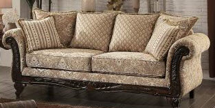 Homelegance Thibodaux Light Beige Acanthus Sofa