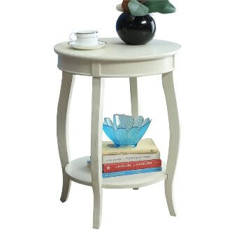Acme White Round Side Table