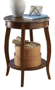 Acme Espresso Finish Round Side Table