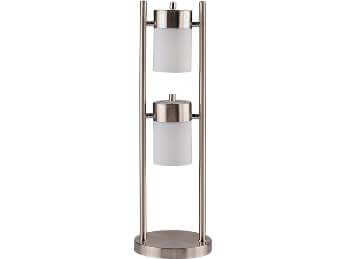 Coaster Modern Silver Table Lamp with 2 Adjustable Lights