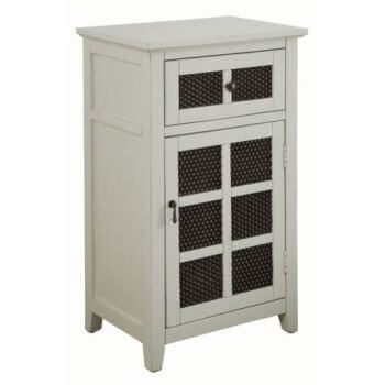 Coaster White Console Cabinet with Wire Accents