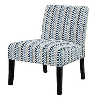 Coaster Blue & Beige Foliage Accent Chair