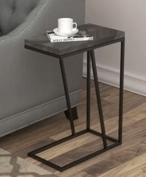 Coaster Rustic Grey Accent Table with Metal Frame