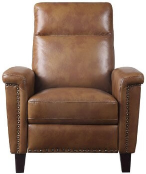 Homelegance Weiser Cognac Faux Leather Recliner