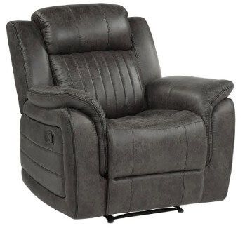 Homelegance Center Charcoal Microsuede Recliner
