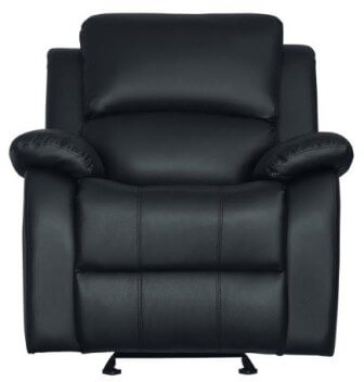 Homelegance Clarkdale Black Faux Leather Recliner