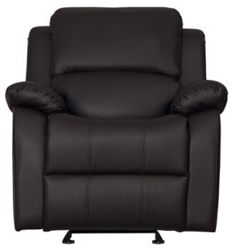 Homelegance Clarkdale Dark Brown Faux Leather Recliner