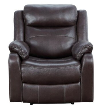 Homelegance Yerba Dark Brown Microsuede Lay-Flat Recliner